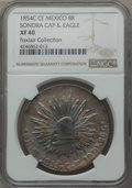 Mexico, Mexico: Republic 8 Reales 1854/3 C-CE XF40 NGC,...