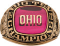 Football Collectibles:Others, 1977 Ohio State Buckeyes Big 10 Championship Ring....