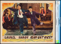 "Movie Posters:Comedy, Way Out West (MGM, 1937). CGC Graded Lobby Card (11"" X 14"").. ..."