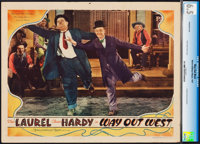 """Way Out West (MGM, 1937). CGC Graded Lobby Card (11"""" X 14"""")"""