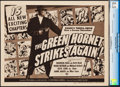 "Movie Posters:Serial, The Green Hornet Strikes Again (Universal, 1941). CGC Graded Title Lobby Card (11"" X 14"").. ..."