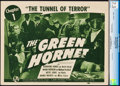 """Movie Posters:Serial, The Green Hornet (Universal, 1940). CGC Graded Title Lobby Card (11"""" X 14"""") Chapter 1 -- """"The Tunnel of Terror."""" Serial.. ..."""