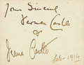 Autographs:Celebrities, Vernon and Irene Castle Autographed Calling Card. Dated February,1914....