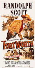"Movie Posters:Western, Fort Worth (Warner Brothers, 1951). Three Sheet (41"" X 79"").. ..."