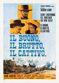 """Movie Posters:Western, The Good, the Bad and the Ugly (PEA, R-1968). Italian 4 - Fogli (55"""" X 76.5"""").. ..."""