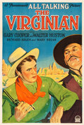"Movie Posters:Western, The Virginian (Paramount, 1929). One Sheet (27"" X 41"") Style ASound Version.. ..."
