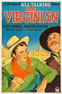 "The Virginian (Paramount, 1929). One Sheet (27"" X 41"") Style A Sound Version"