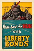 "Movie Posters:War, World War I Propaganda (U.S. Government Printing Office, 1918).Poster (20"" X 30"") ""Beat Back the Hun."". ..."