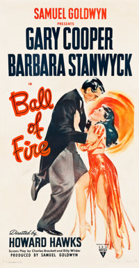 "Ball of Fire (RKO, 1941). Three Sheet (41"" X 79.5"")"