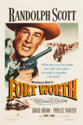 "Movie Posters:Western, Fort Worth (Warner Brothers, 1951). One Sheet (27"" X 41"").. ..."