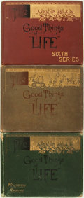 Books:Art & Architecture, [Cartoons]. The Good Things of Life, First, Fourth and Sixth Series. New York: White, Stokes & Allen/Frederick A... (Total: 3 Items)