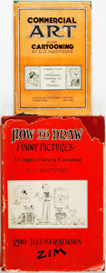 Books:Art & Architecture, [Cartooning, Art Instruction]. E. C. Matthews. Pair of First Edition Books on Cartooning Technique. Various publishers, ... (Total: 2 Items)