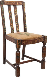Chair Used by J.K. Rowling whilst Writing the First Two Harry Potter Books, Later Hand-Painted and Signed by Rowli