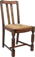 Featured item image of Chair Used by J.K. Rowling whilst Writing the First Two Harry Potter Books, Later Hand-Painted and Signed by Rowling Herse... (Total: 2 Items)