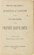 Books:Religion & Theology, [Mormonism]. Questions and Answers on the Life and Mission of the Prophet Joseph Smith. Deseret Sunday School Cate...