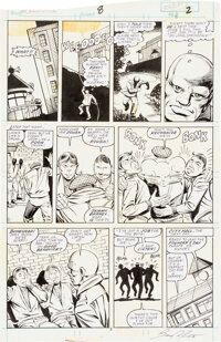 Steve Ditko and Bruce Patterson Speedball #8 Story Page 2 Original Art (Marvel, 1989)