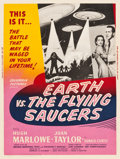 """Movie Posters:Science Fiction, Earth vs. the Flying Saucers (Columbia, 1956). MP Graded Poster (30"""" X 40"""").. ..."""