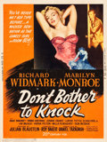 "Movie Posters:Film Noir, Don't Bother to Knock (20th Century Fox, 1952). MP Graded Poster(30"" X 40"") Style Y.. ..."