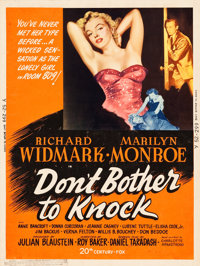 """Don't Bother to Knock (20th Century Fox, 1952). MP Graded Poster (30"""" X 40"""") Style Y"""