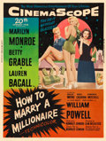 "Movie Posters:Comedy, How to Marry a Millionaire (20th Century Fox, 1953). MP GradedPoster (30"" X 40"") Style Y.. ..."