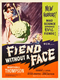 "Movie Posters:Science Fiction, Fiend without a Face (MGM, 1958). MP Graded Poster (30"" X 40"")....."