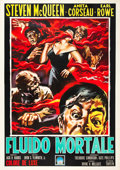 "Movie Posters:Science Fiction, The Blob (Paramount, 1959). Italian 4 - Fogli (55"" X 78""). SandroSimeoni Artwork.. ..."