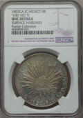 Mexico, Mexico: Republic 8 Reales 1850 Ga-JG UNC Details (SurfaceHairlines) NGC,...