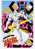 Memorabilia:Poster, Galactus and Silver Surfer Poster by Jack Kirby (Marvelmania,1970)....