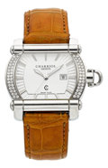 Estate Jewelry:Watches, Charriol Lady's Diamond, Stainless Steel Actor Watch. ...