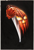 "Movie Posters:Horror, Halloween by Robert Gleason (Compass International, 1978). Original Acrylic Painting (27"" X 39.75"").. ..."