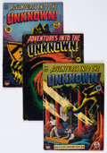 Golden Age (1938-1955):Horror, Adventures Into The Unknown Group of 5 (ACG, 1949-50).... (Total: 5Comic Books)