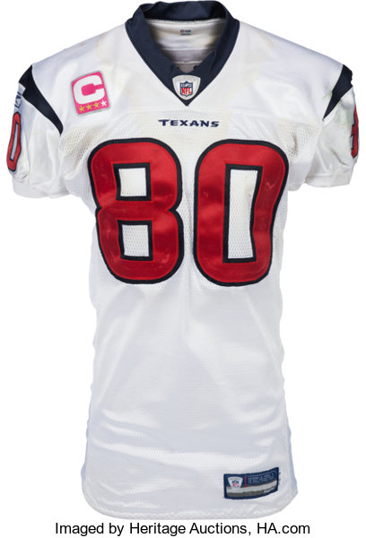 online store b1656 6a42a 2009 Andre Johnson Game Worn & Signed Houston Texans Jersey ...
