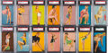 "Non-Sport Cards:General, 1940-45 Mutoscope ""Hot Cha Girls"" Graded Near Set (63/65) With ""MyDiver's Licence. ..."