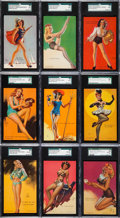 "Non-Sport Cards:Sets, 1940-45 Mutoscope ""Artist Pin Ups"" High Grade Complete Set (64)...."