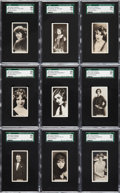 "Non-Sport Cards:Sets, 1925 Ardath ""Cinema Stars"" (Small) SGC Graded Complete Set (24)...."