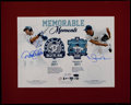 Baseball Collectibles:Photos, Derek Jeter and Mariano Rivera Multi Signed Oversized Print. ...