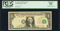 Error Notes:Doubled Third Printing, Fr. 1911-C $1 1981 Federal Reserve Note. PCGS About New 53.. ...