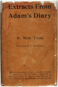 Books:Fiction, Mark Twain. Extracts from Adam's Diary. Translated from theOriginal MS. New York and London: Harper & Brothers, 190...