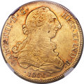Chile, Chile: Charles IV gold 8 Escudos 1800 So-JA AU53 NGC,...