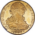 Chile, Chile: Charles IV gold 8 Escudos 1794 So-DA UNC Details (SurfaceHairlines) NGC,...