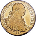 Colombia, Colombia: Ferdinand VII gold 8 Escudos 1811 P-JF AU58 NGC,...