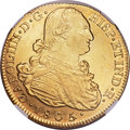 Colombia, Colombia: Charles IV gold 8 Escudos 1805/4 P-JT AU58 NGC,...