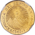 Costa Rica, Costa Rica: Central American Republic gold 2 Escudos 1843 CR-M AU55 NGC,...