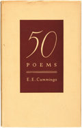 Books:Fiction, E. E. Cummings. 50 Poems. New York: Duell, Sloan and Pearce,[1940]....