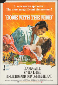 "Gone with the Wind (MGM, R-1968). One Sheet (27"" X 41""). Academy Award Winners"