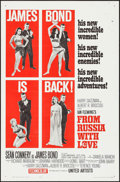 "Movie Posters:James Bond, From Russia with Love (United Artists, 1964). One Sheet (27"" X 41"") Style B. James Bond.. ..."