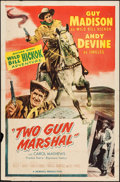 """Movie Posters:Western, Two Gun Marshal & Other Lot (Allied Artists, 1953). Stock OneSheets (2) (27"""" X 41""""). Western.. ... (Total: 2 Items)"""