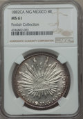 Mexico, Mexico: Republic 8 Reales 1882 Ca-MG MS61 NGC,...