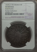Mexico, Mexico: Republic 8 Reales 1834 Ca-MR XF Details (Scratched) NGC,...