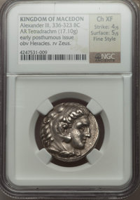 Ancients: MACEDONIAN KINGDOM. Alexander III the Great (336-323 BC). AR tetradrachm (17.10 gm)